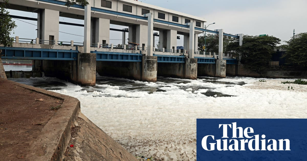 Troubled waters: what's causing the mystery foam in a Jakarta canal?