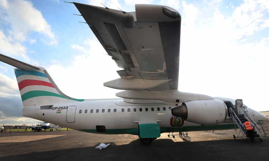 The Avro RJ85 plane, operated by Bolivian carrier LaMia, which crashed in Colombia.
