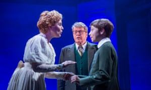A window on the past … from left, Gemma Sutton, Michael Crawford and William Thompson in The Go-Between at the Apollo, London.