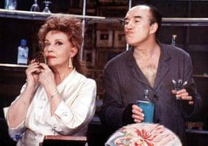 Jeanne Moreau and Michel Piccoli in Le paltoquet, 1986