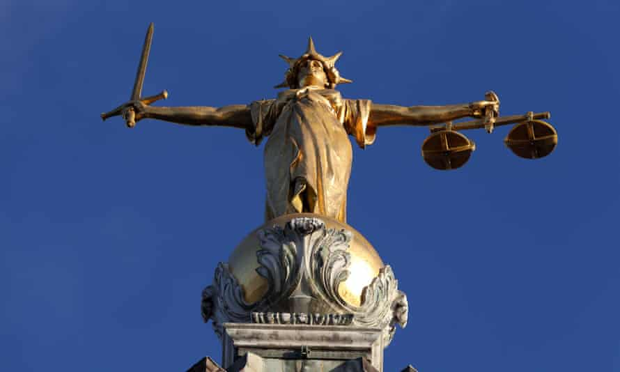 Statue of Lady Justice atop the Old Bailey