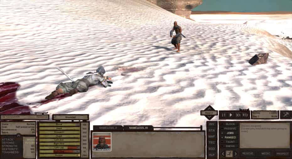 Gameplay from Kenshi.