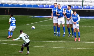 Cardiff's Harry Wilson scores his second goal of the game from a free kick.