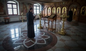 Prayer service at the Holy Mother of God of Kazan monastery.