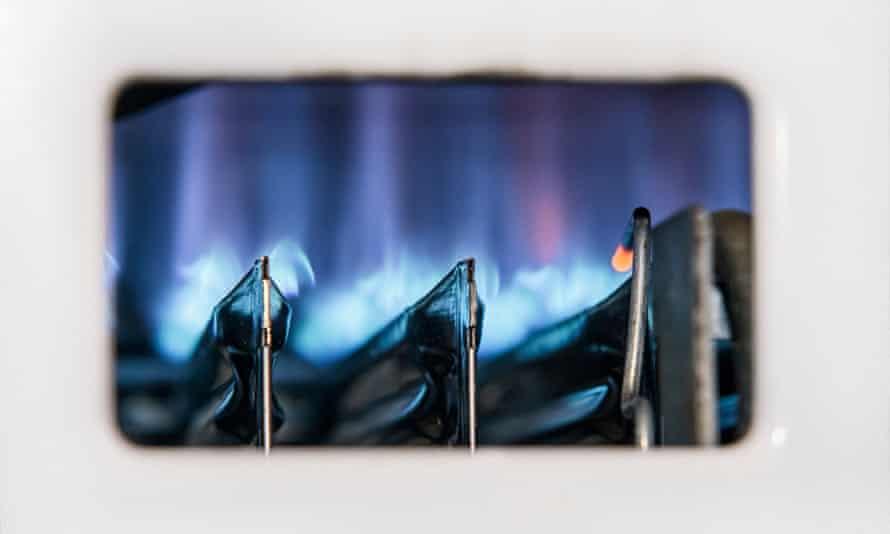gas boiler flame