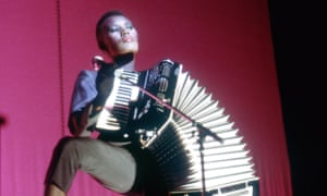 Grace Jones performing in London, 1981.