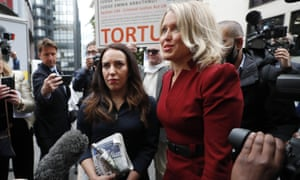 Julian Assange's partner Stella Morris, left, and his lawyer Jennifer Robinson arrive at the Old Bailey.