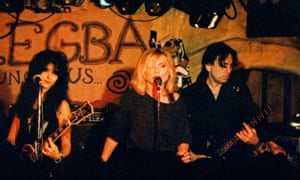 Debbie Harry of Blondie performing at the Borderline with Chris Stein in 1989.