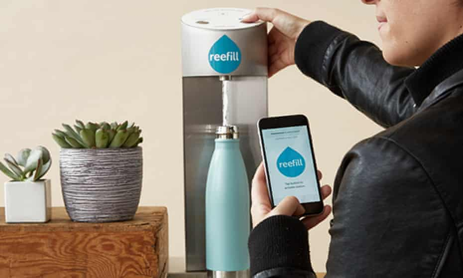 Reefill has reinvented the water fountain as a Bluetooth-enabled subscription service.
