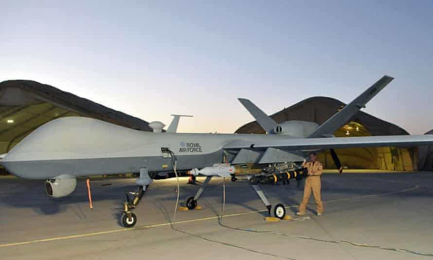 A Reaper drone at Kandahar, in Afghanistan.