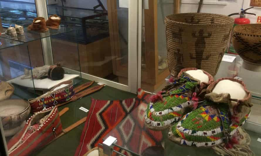 Moccassins and other Native American artefacts at the Ashburton Museum
