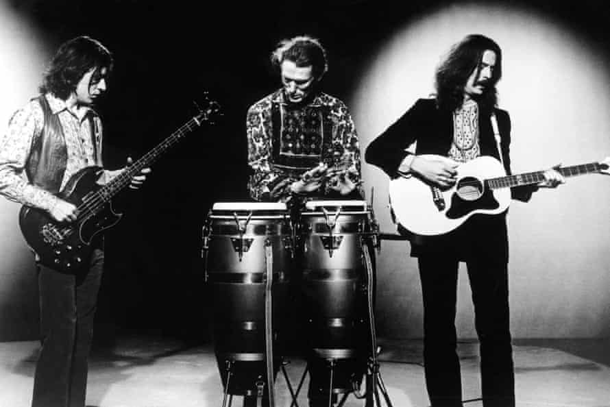 Cream, from left to right: Jack Bruce, Ginger Baker, Eric Clapton.