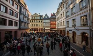 The historic chicken market, in Frankfurt Old Town