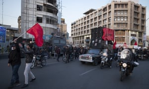 Protests near the British embassy in Tehran