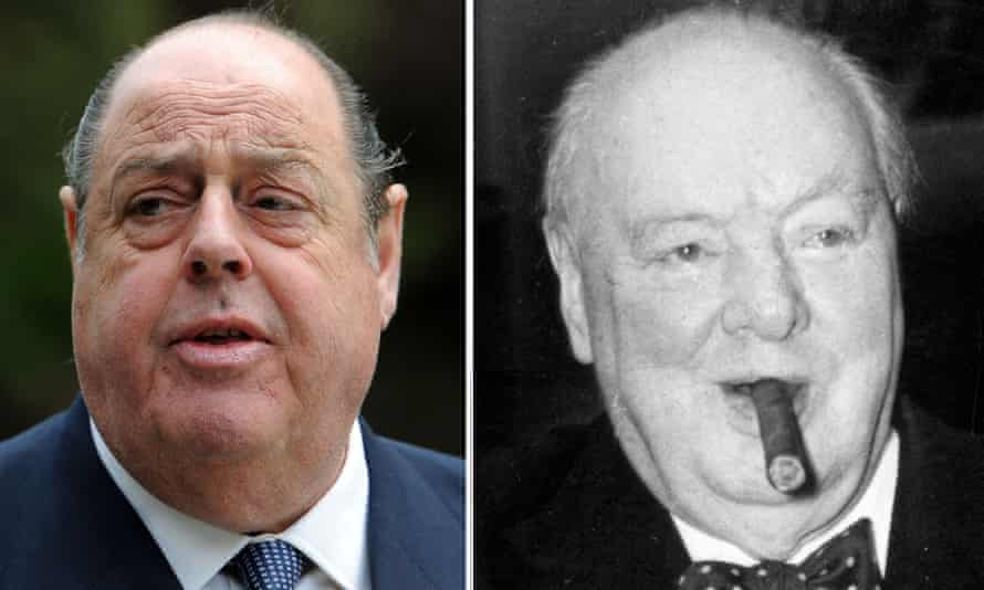 Sir Nicholas Soames and Sir Winston Churchill