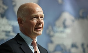 William Hague speaking at Chatham House in London last year