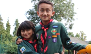Two young Scouts