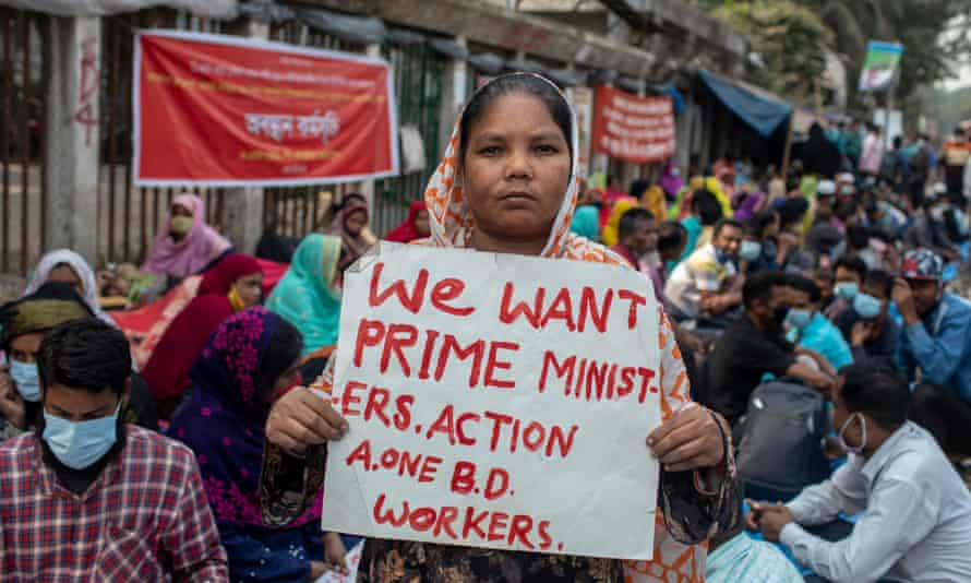 Selina Hossain, one of the laid-off garment workers protesting in Dhaka, Bangladesh.