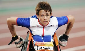 Tanni Grey-Thompson after finishing fourth in the women's 200m at the Athens 2004 Paralympic Games.