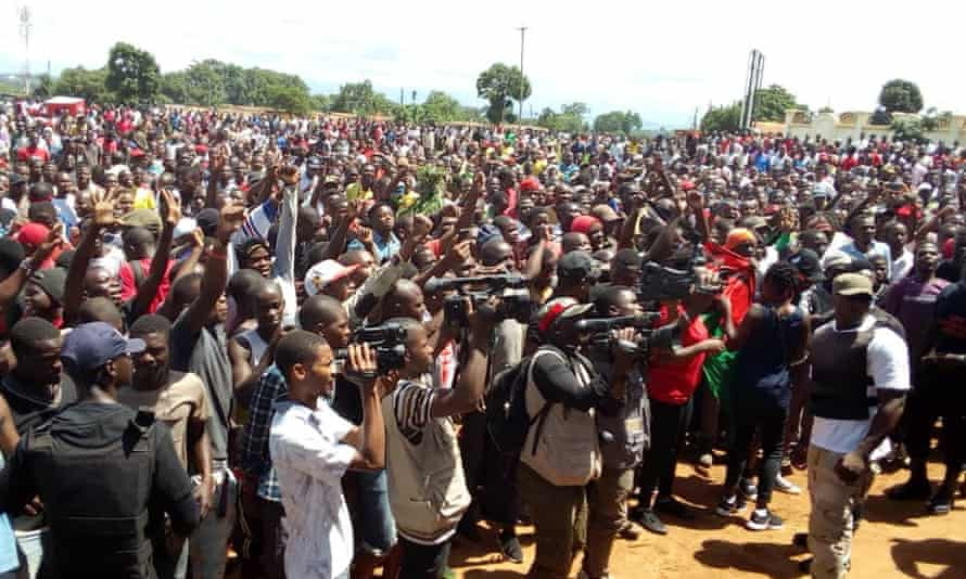 People in Lilongwe protest over the alleged rape of women by police