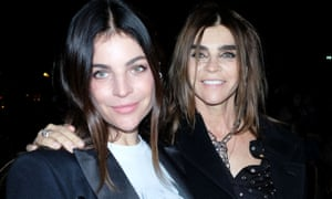 'My kids are well brought up because I was so tough with them': Julia Roitfeld and Carine Roitfeld at the Celine show, Paris Fashion Week 2019.