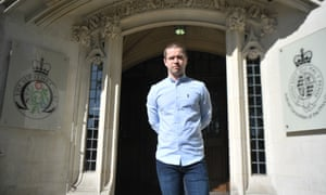 Sam Hallam outside the supreme court in central London.