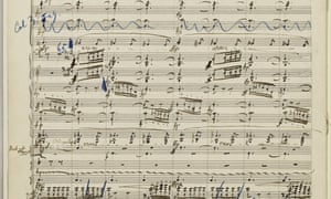 Stave to love … the manuscript for the Resurrection symphony.