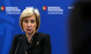 Portuguese health minister, Marta Temido.