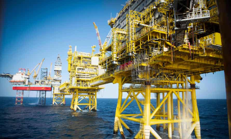Total's Culzean platform is pictured on the North Sea
