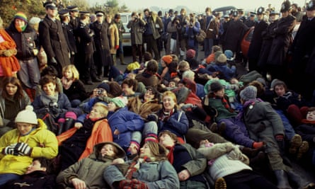 Protesters at Greenham Common, 1982