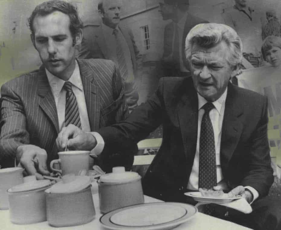 Bob Brown with Bob Hawke in February 1983
