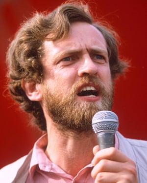 Jeremy Corbyn in 1984.