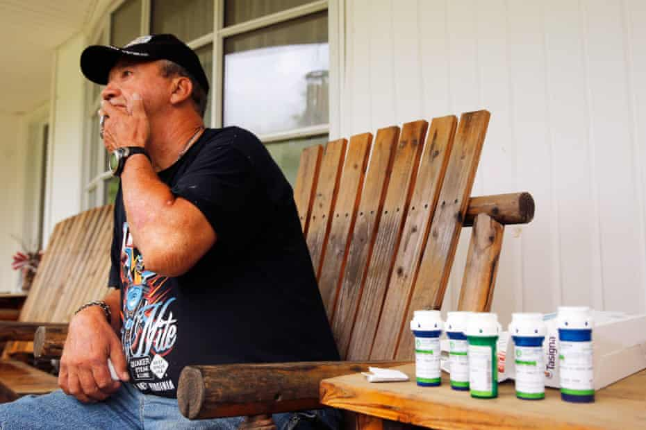 A former Hobet miner whose healthcare coverage ended after the mining company's bankruptcy.