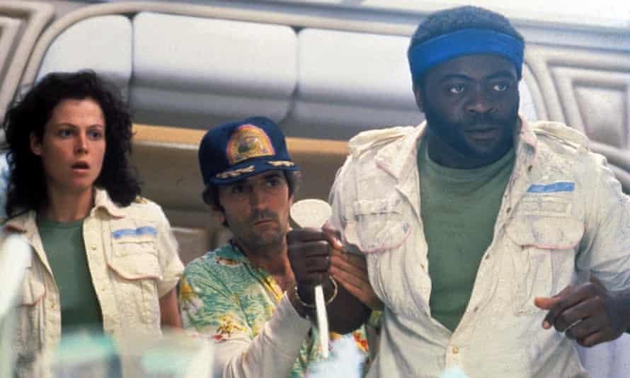 (from left to right) Sigourney Weaver, Harry Dean Stanton and Yaphet Kotto in Alien.