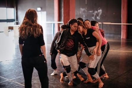 Bangarra dancers rehearse Dark Emu