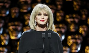 Joanna Lumley: 'The ladies are about to storm the men's loos. They can't manage to have a drink and a waz at half time.'