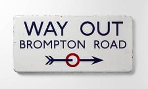 Edward Johnston Way Out, Brompton Road 1916