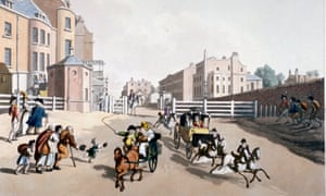 The entrance to Oxford Street at the Tyburn turnpike, 1798