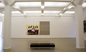 Interior of the white-walled and minimalist design of the Stevenson gallery, Cape Town