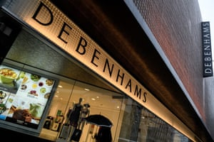 Debenhams ... one of the high street chains facing a shaky future.
