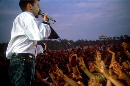 Stadium fillers … Simple Minds in 1990.