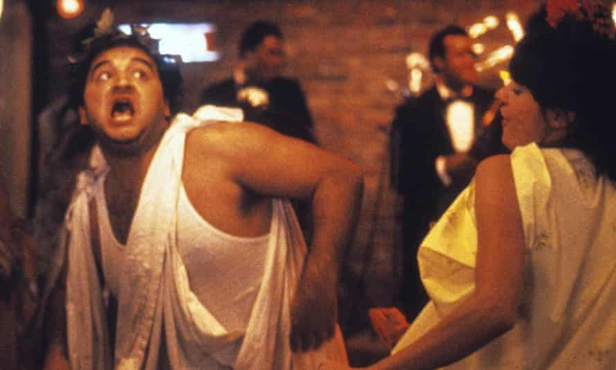 At the time, the highest-grossing comedy movie ever … Belushi in National Lampoon's Animal House.