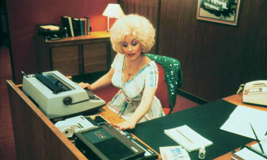 Dolly Parton … working, you guessed it.