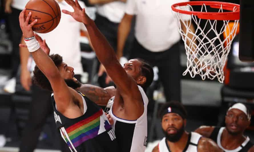 Jamal Murray is blocked by Kawhi Leonard at a crucial moment in the game