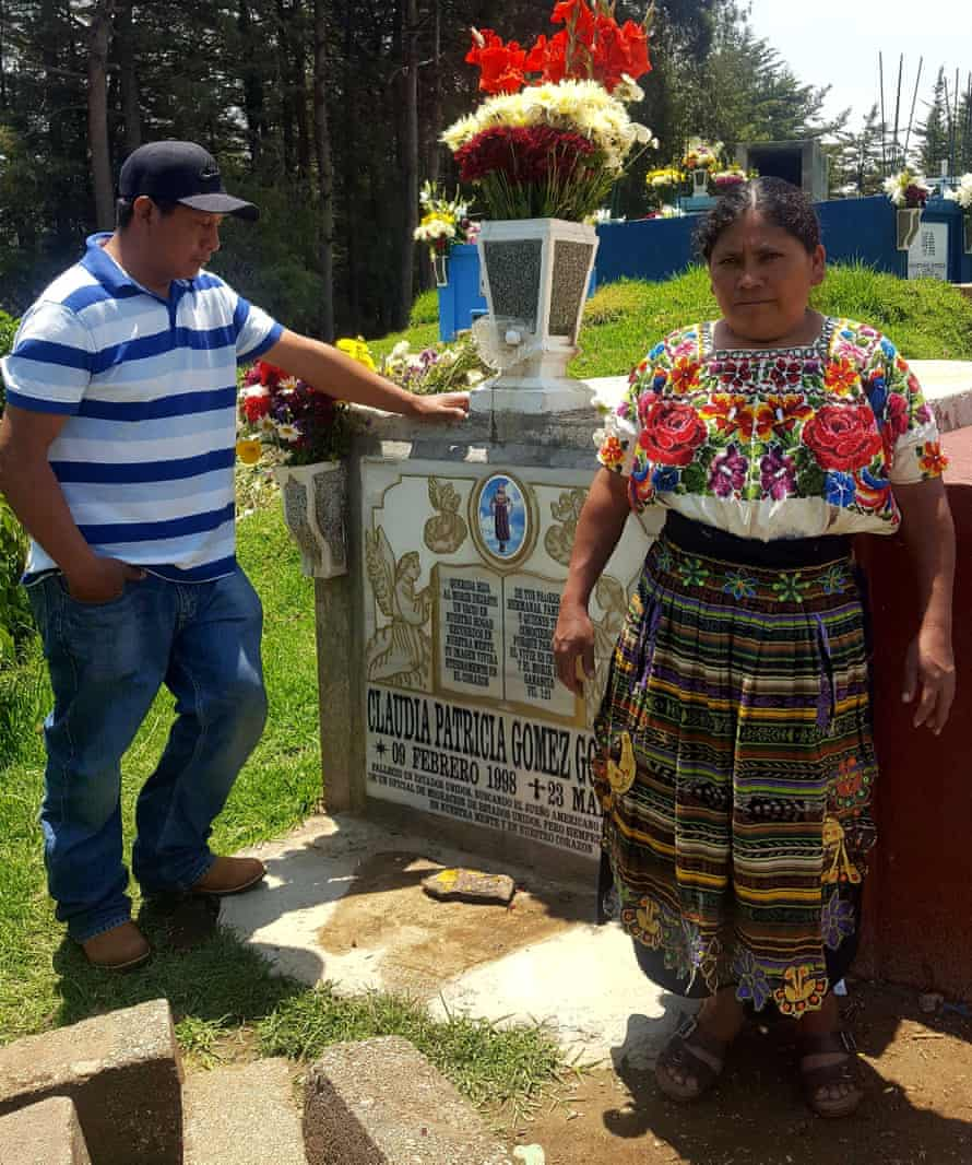 'Claudia Patricia Gómez González died in the United States on 23 May 2018 searching for the American dream … your death has left an emptiness in our home.'