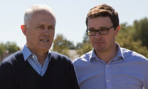 David Littleproud campaigning with prime minister Malcolm Turnbull in Queensland this week.