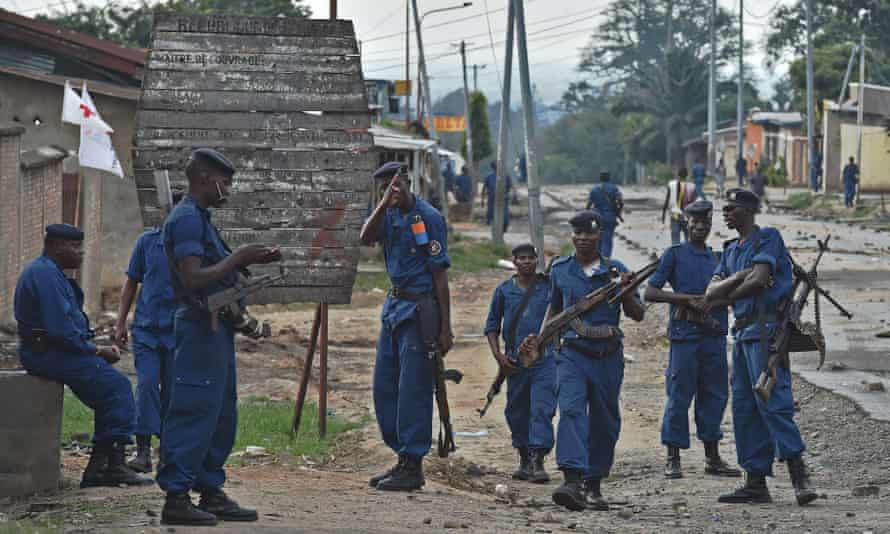 The White House said Burundi's national police have employed 'disproportionate use of force and acts of violent repression' against protesters.