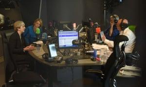 Theresa May on BBC Radio 4's Today programme with presenter Nick Robinson