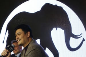 Former NBA star Yao Ming attends WildAid media event of an ivory reduction campaign in Shanghai, China, 2013.