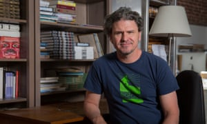 Dave Eggers in the McSweeney's office, which he founded, in San Francisco.